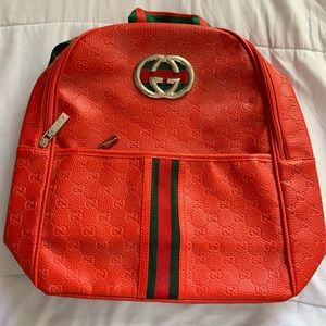 BRAND NEW RED GUCCI BACKPACK